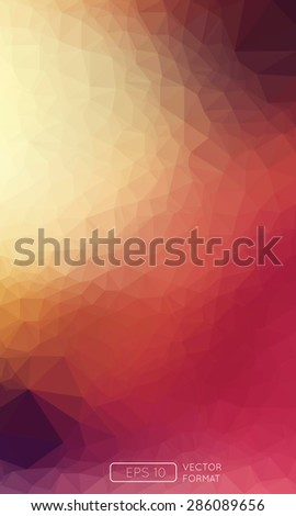 Abstract colorful triangular low poly style vector background,Vector illustration - stock vector