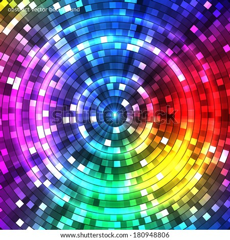 Abstract Colorful Tunnel. Background. Vector - stock vector