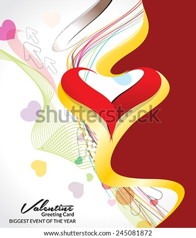 abstract colorful valentine day background vector illustration  - stock vector