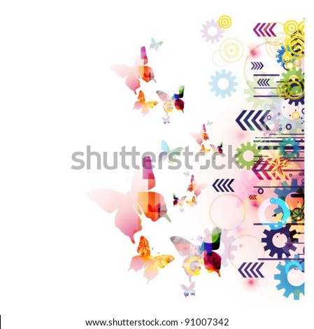 abstract colorful vector - stock vector