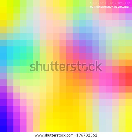 Abstract colorful vector background, pixel art illustration - stock vector