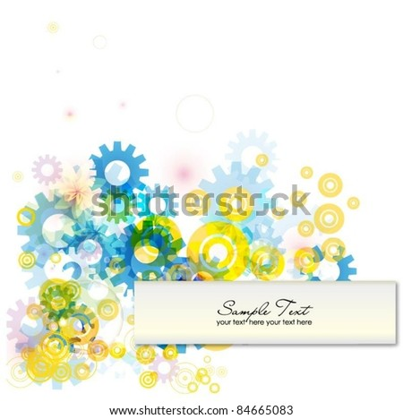 abstract colorful vector background with gears - stock vector