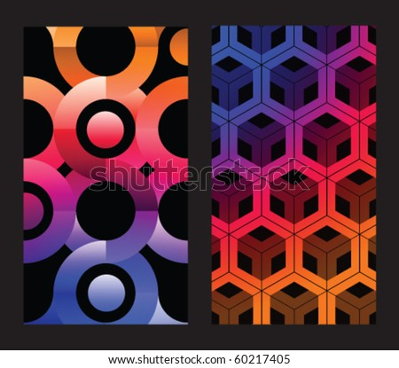 Abstract colorful vector backgrounds - stock vector