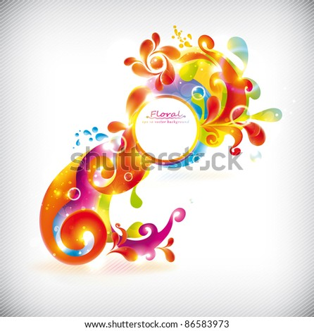 Abstract colorful vector banner