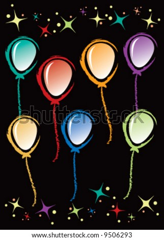 Abstract colorful vector party balloons