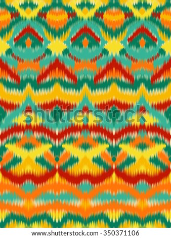 Abstract colorful vector seamless pattern, background with ethnic and tribal motifs, zigzag lines.