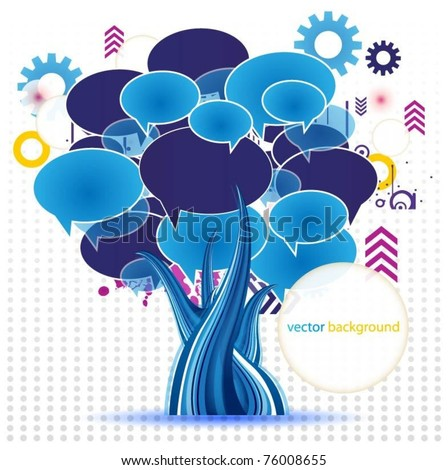 abstract colorful vector tree - stock vector