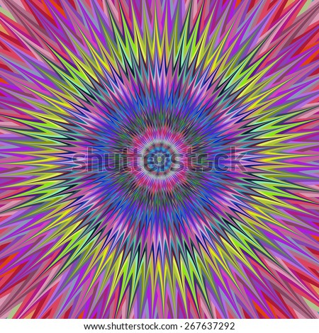 Abstract colorful vibrant star design background