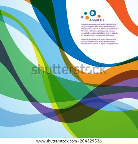 Abstract colorful wave background, vector  - stock vector