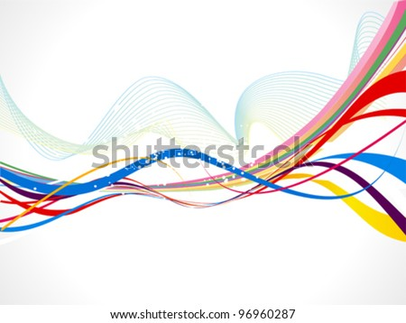 abstract colorful wave background vector illustration