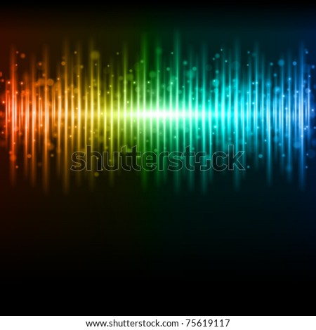 Abstract colorful waveform vector background. Eps 10. - stock vector