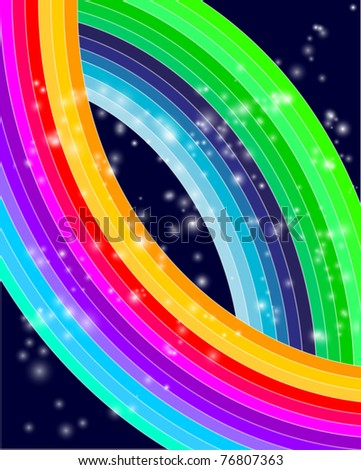 Abstract Colorful Waves - stock vector