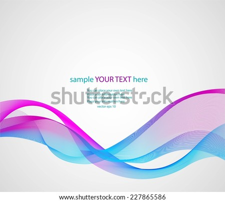 Abstract colorful waves on gray background