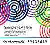 Abstract colorful wavy circles background - stock vector