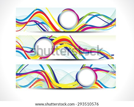 abstract colorful web banners vector illustration - stock vector