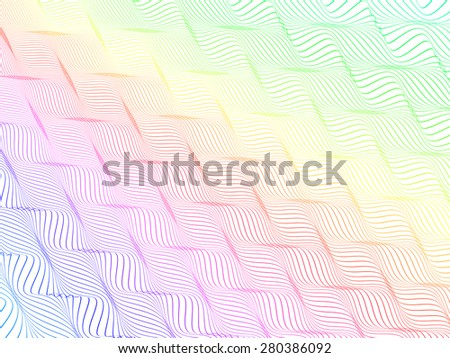 abstract colorful wireframe distortions, vector rhythmic composition  - stock vector