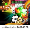 Abstract Colorful World Footbal Championship 2010 Background for Party Flyers - stock vector