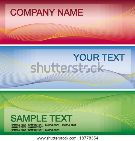 Abstract colorfull banner, business card - stock vector
