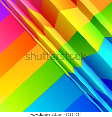 Abstract Colour Bands effect. Vector illustration.
