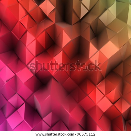 Abstract colourful background. Combination of triangle. Vector - stock vector