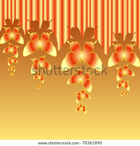 Abstract colourful background with butterflies. A vector. - stock vector