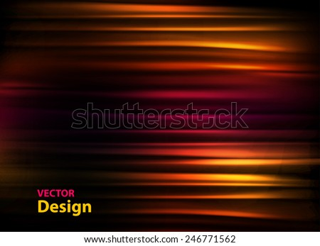 Abstract colourful background with waves, easy editable - stock vector