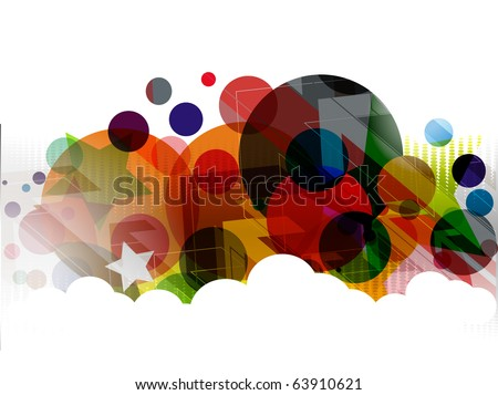 abstract colourful circle wave line background. - stock vector