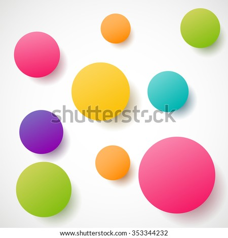 Abstract colourful circles shape. Vector