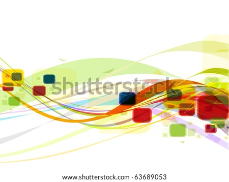 abstract colourful mosaic wave line background. - stock vector