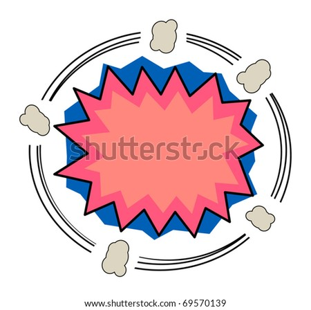 Abstract comic background, vector illustration - stock vector