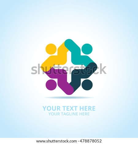 Abstract community logo design concept emblem stock vector abstract community logo design concept emblem icon flat logotype element for template sciox Gallery