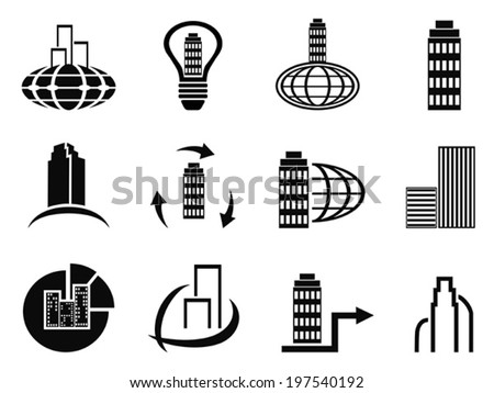 abstract company icons set - stock vector