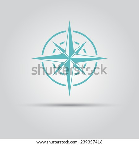 abstract compass star vector isolated logo - stock vector