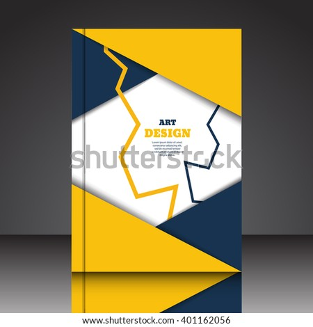 Abstract composition A4 brochure background eps10 vector illustration 8 - stock vector