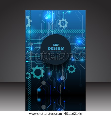 Abstract composition A4 brochure background eps10 vector illustration 15 - stock vector