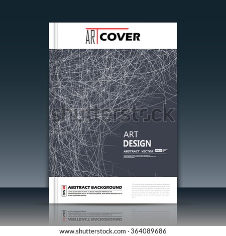 Abstract composition, a4 brochure title sheet, monochrome grass icon, black hole, gap text frame surface, creative figure, logo sign construction, firm banner form, flier fashion, EPS10 illustration