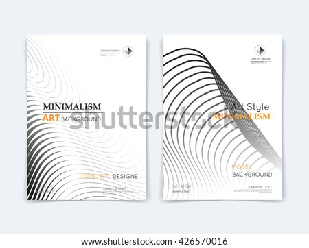 Abstract composition. Black round curl texture. Circle contour construction. Bubble parts. White a4 brochure title sheet. Creative  figure icon. Grey sphere surface. Banner form. Orb lines flyer font - stock vector