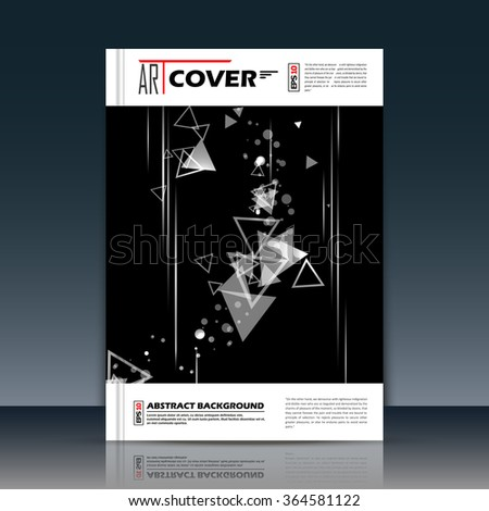 Abstract composition, black, white outer space galaxy, glory star ray, a4 brochure title sheet, cosmic sky icon, text frame surface, creative figure, logo sign, firm banner form, flier fashion, EPS10  - stock vector