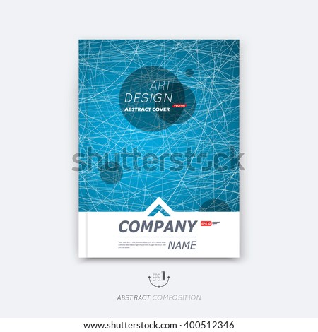 Abstract composition, blue web font texture, black round text frame section, white curve line construction, brochure title sheet, creative round figure icon, commercial offer, banner form, flyer fiber - stock vector