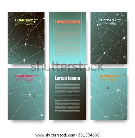 Abstract composition, business card set, correspondence letter collection, brochure title sheet, certificate, diploma, patent, charter, figure frame surface, logo backdrop, EPS 10 vector illustration - stock vector