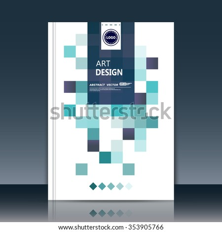 Abstract composition, green business card backdrop, square blocks construction, a4 brochure title sheet, certificate, diploma, patent, charter, creative text frame surface, box figure logo icon, EPS10 - stock vector