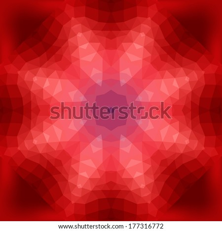 Abstract composition of geometric shapes gathered in a circle, circular pattern, mosaic pattern, background. - stock vector