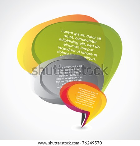 Abstract composition of speech bubbles - stock vector