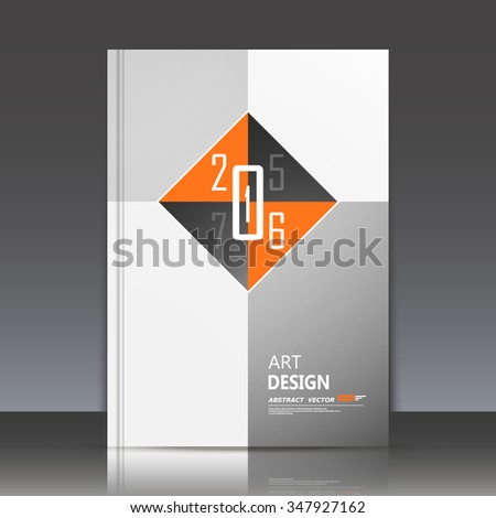 Abstract composition, orange square block construction, math technology, happy new year decoration icon, 2016 greeting card, arithmetic backdrop, rhombus lozenge, light sale discount invitation, EPS10 - stock vector