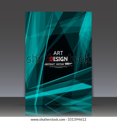 Abstract composition, polygonal construction, connecting dots and lines, a4 brochure title sheet, space background, laser light rays surface, neon star movement backdrop, EPS 10 vector illustration - stock vector