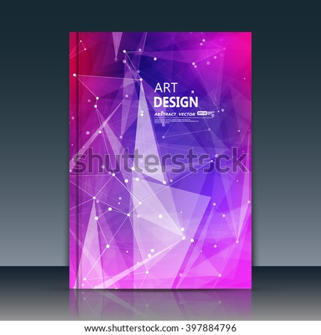 Abstract composition, purple texture, white cybernetic dots, a4 brochure title sheet, creative figure, logo banner form, outer space flyer fiber, neon star matrix, starburst elegant surface, EPS 10 - stock vector