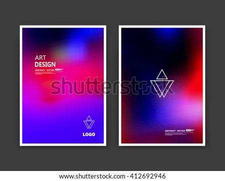 Abstract composition. Rainbow color editable texture. Patch blue, pink multicolor construction. Monogram banner form. Bright a4 brochure title sheet set. Creative figure icon. Light logo surface flyer - stock vector