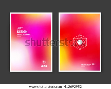 Abstract composition. Rainbow editable texture. Patch pink, rosy, red multicolor construction. Bright show banner form. A4 brochure title sheet set. Creative figure icon. Light logo surface flyer - stock vector