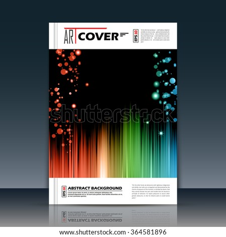 Abstract composition, rainbow outer space galaxy, glory star ray, a4 brochure title sheet, cosmic sky icon, text frame surface, creative figure, logo sign, firm banner form, flier fashion, EPS10  - stock vector