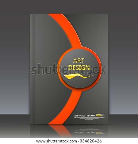 Abstract composition, red circle framework, black a4 brochure title sheet, round logo construction backdrop, business card texture surface, line emphasized firm symbol, fashionable fiber, EPS10 vector - stock vector